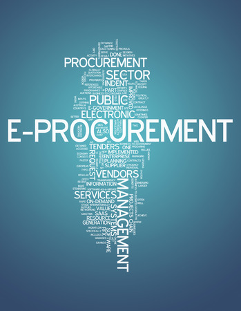 saas: Word Cloud with E-Procurement wording