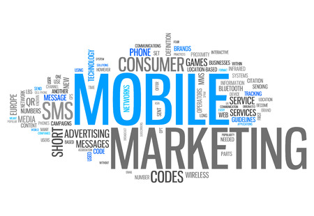 mobile marketing: Word Cloud with Mobile Marketing wording