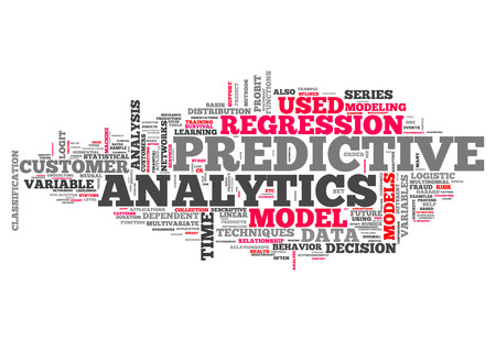 Word Cloud with Predictive Analytics related tags photo