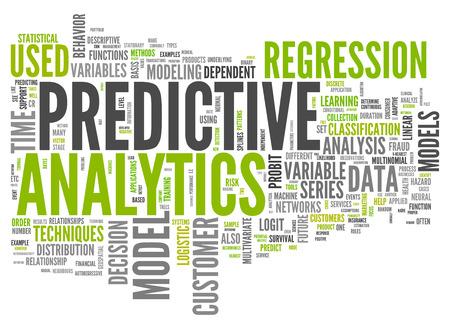 toma de decisiones: Nube de la palabra con las etiquetas de análisis predictivo relacionados