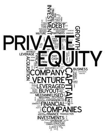 mezzanine: Word Cloud with Private Equity related tags Stock Photo