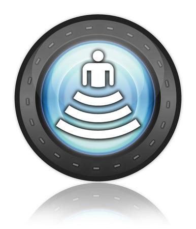 Icon, Button, Pictogram with Amphitheater symbol Stok Fotoğraf - 34033359