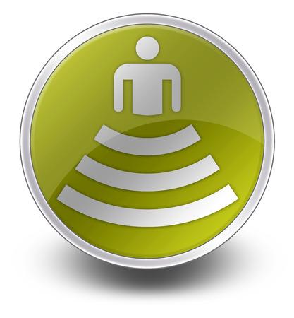 Icon, Button, Pictogram with Amphitheater symbol Stok Fotoğraf - 34034053