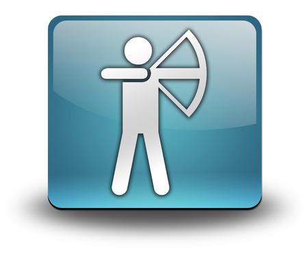 bowman: Icon, Button, Pictogram with Archery symbol Stock Photo