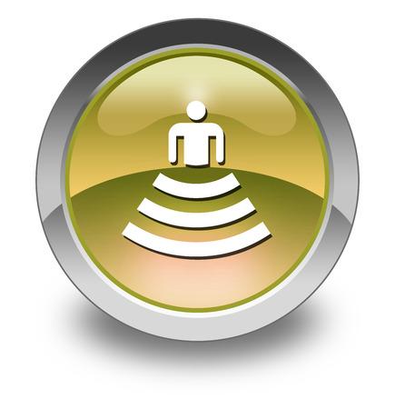 Icon, Button, Pictogram with Amphitheater symbol Stok Fotoğraf - 36078219