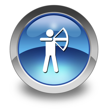 bowman: Icon, Button, Pictogram with Archery symbol Stock Photo