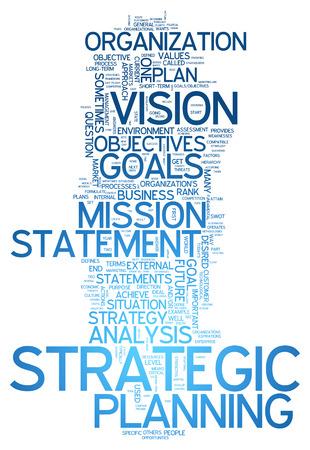 planificacion estrategica: Nube de la palabra con la planificaci�n estrat�gica etiquetas relacionadas