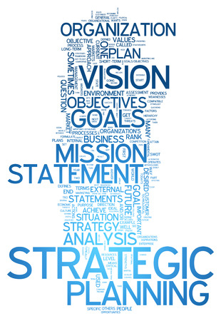 Word Cloud with Strategic Planning related tags