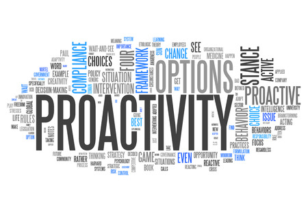 take charge: Word Cloud with Proactivity related tags