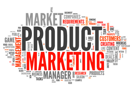 market place: Word Cloud with Product Marketing related tags