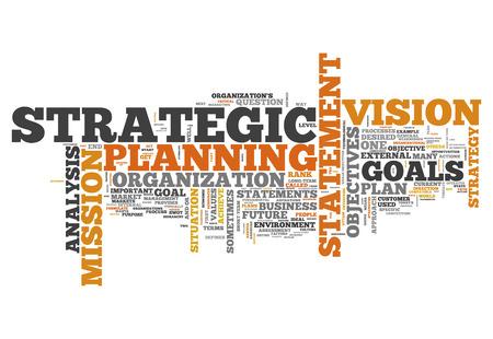 Wort-Wolke mit strategischen Planung verwandte Tags Lizenzfreie Bilder