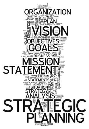 planeaci�n estrategica: Nube de la palabra con la planificaci�n estrat�gica etiquetas relacionadas