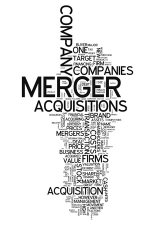 acquisitions: Word Cloud with Merger & Acquisitions related tags