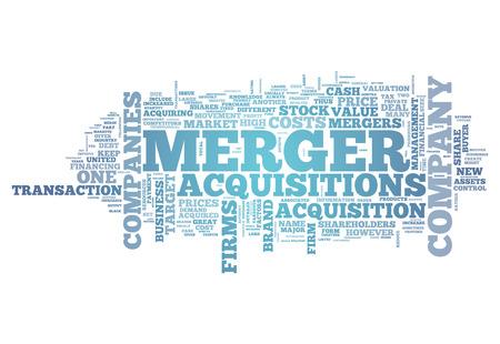 合併・買収と単語の雲関連タグ 写真素材