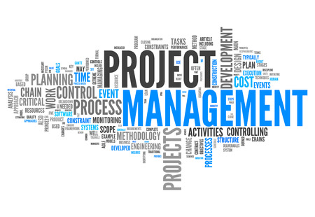 Word Cloud with Project Management related tags Zdjęcie Seryjne
