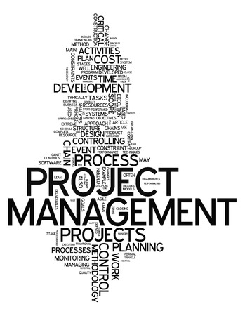 Word Cloud with Project Management related tags Imagens