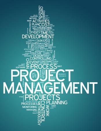 Word Cloud con tag correlati Project Management Archivio Fotografico - 36583029