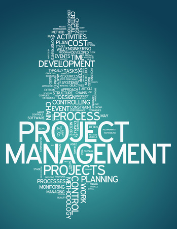 Word Cloud met Project Management gerelateerde tags