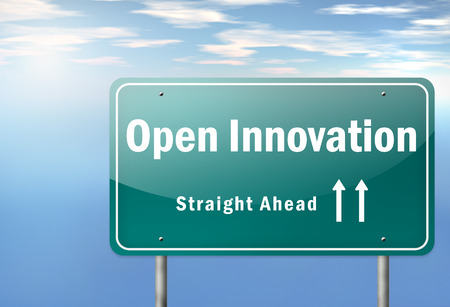 Highway Signpost with Open Innovation wording