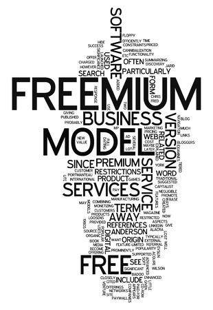 free image: Word Cloud with Freemium related tags