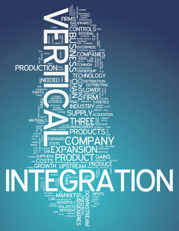 suppliers: Word Cloud with Vertical Integration related tags