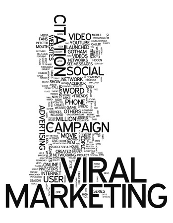 Word Cloud with Viral Marketing related tags photo
