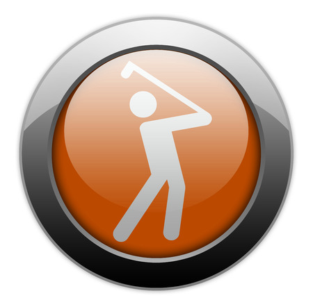 hole in one: Icon, Button, Pictogram with Golfing symbol Stock Photo