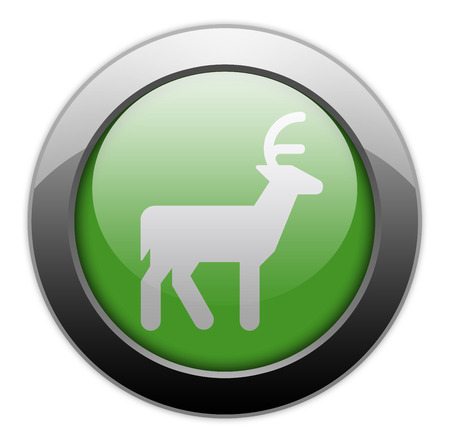 Icon, Button, Pictogram with Deer symbol