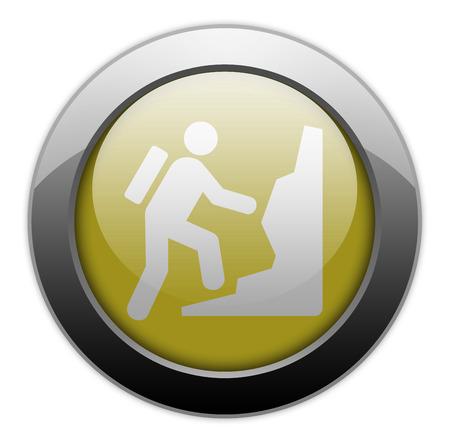 ice climbing: Icon, Button, Pictogram with Climbing symbol