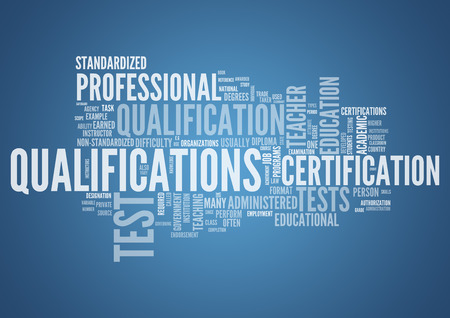Word Cloud with Qualifications related tags