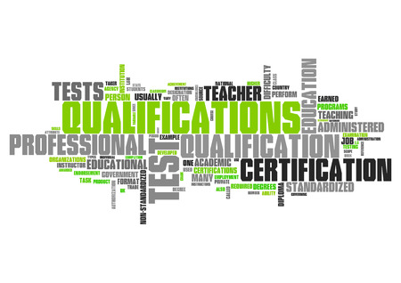 Word Cloud with Qualifications related tags Stok Fotoğraf - 38464946