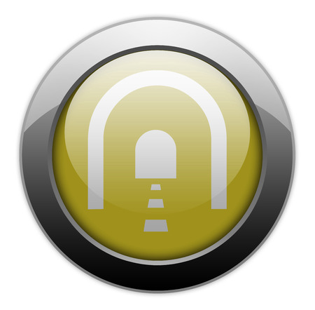 passageway: Icon, Button, Pictogram with Tunnel symbol