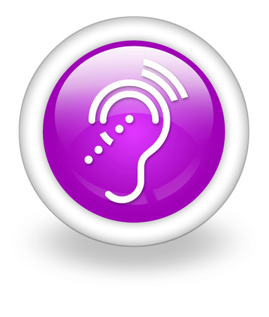 conductive: Icon, Button, Pictogram with Hearing Impairrment symbol