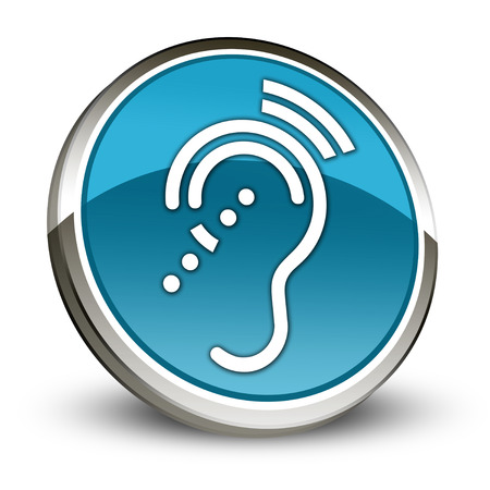 assistive: Icon, Button, Pictogram with Hearing Impairrment symbol