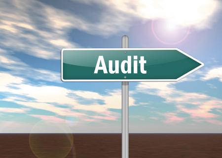 auditoría: Poste indicador con la redacción de Auditoría