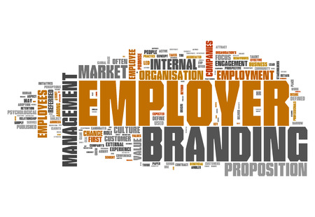 Word Cloud with Employer Branding related tags 版權商用圖片