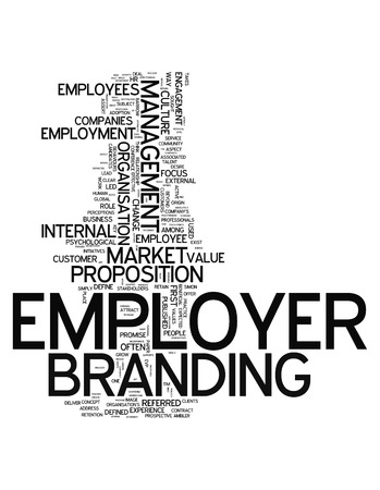 proposition: Word Cloud with Employer Branding related tags Stock Photo