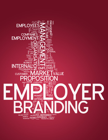 employer: Word Cloud with Employer Branding related tags Stock Photo