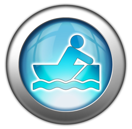 bateau de course: Icon, Button, Pictogram with Rowboating symbol