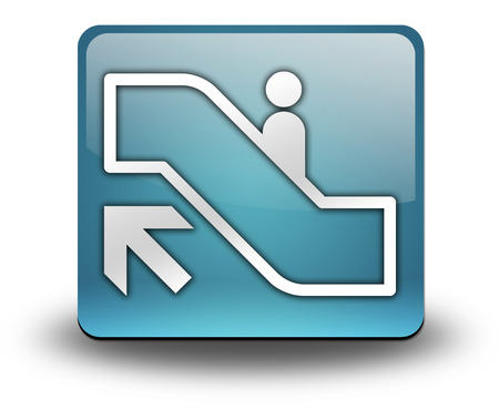 escalator: Icon, Button, Pictogram with Escalator Up symbol