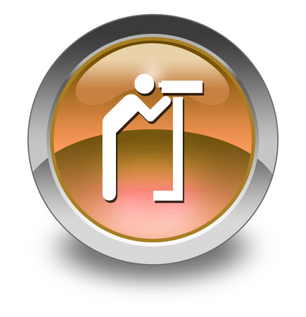 viewing: Icon, Button, Pictogram with Viewing Area symbol