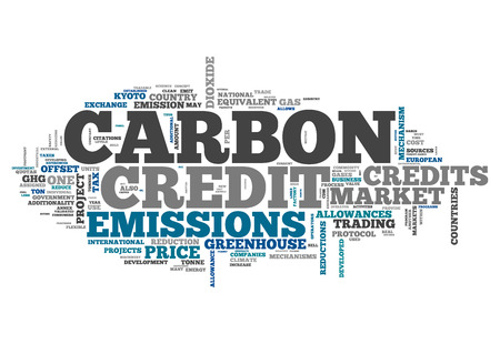 pollutant: Word Cloud with Carbon Credit related tags Stock Photo