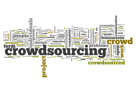 crowd sourcing: Word Cloud with Crowdsourcing related tags