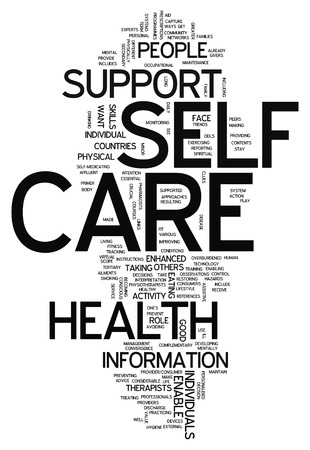 self care: Word Cloud with Self Care related tags Stock Photo