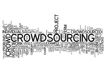 sourced: Word Cloud with Crowdsourcing related tags