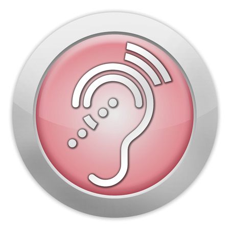 sensitivity: Icon, Button, Pictogram with Hearing Impairrment symbol