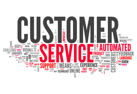 Word Cloud with Customer Service related tags photo