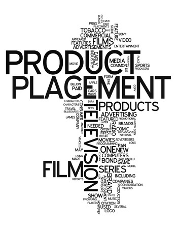 Word Cloud with Product Placement related tags photo