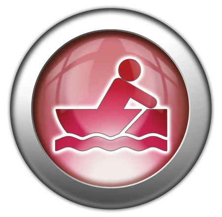 row boat: Icon, Button, Pictogram with Rowboating symbol