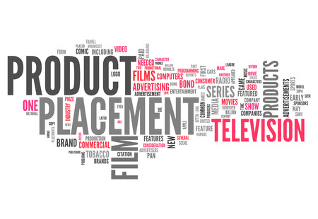 branded product: Word Cloud with Product Placement related tags